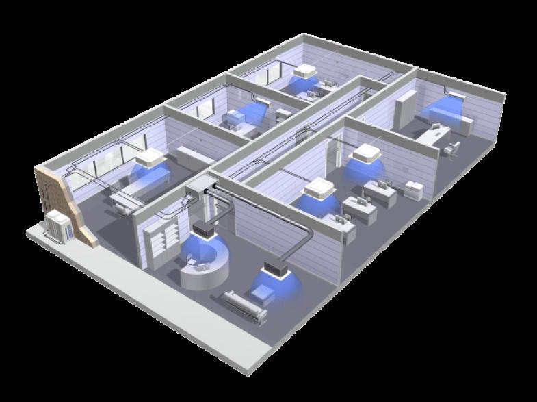 Преимущества VRF / VRV систем Системы кондиционирования воздуха VRV / VRF эффективно и быстро охлаждают целые высотные здания. Они предназначены для одновременной работы в большом количестве помещений: ТРЦ, гостиницы, предприятия, жилые комплексы, большие квартиры и загородные дома.